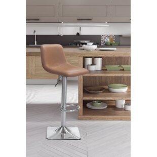 Vonnie Adjustable Height Swivel Bar Stool by Brayden Studio