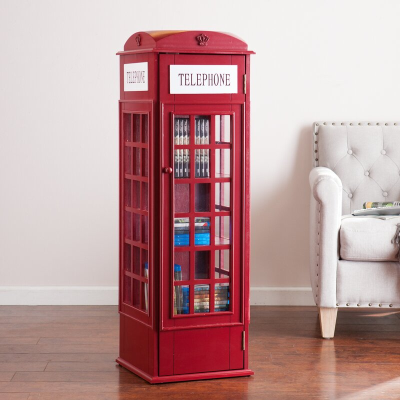 Red Barrel Studio Rodriques Phone Booth Storage Accent Cabinet