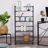 49.4'' H x 23.6'' W Metal Etagere Bookcase by Morinome