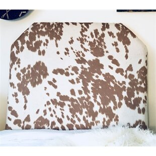 Horst Cow Hide Beveled Twin/Twin XL Upholstered Panel Headboard
