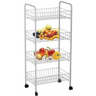 Above Edge Inc. 4-Tier Rolling Storage Rack