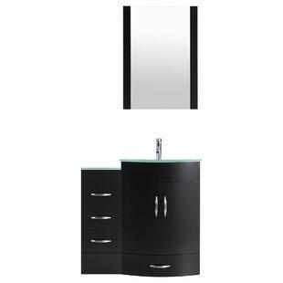 Peterman Modern 42 Single Bathroom Vanity Set with Mirror by Orren Ellis