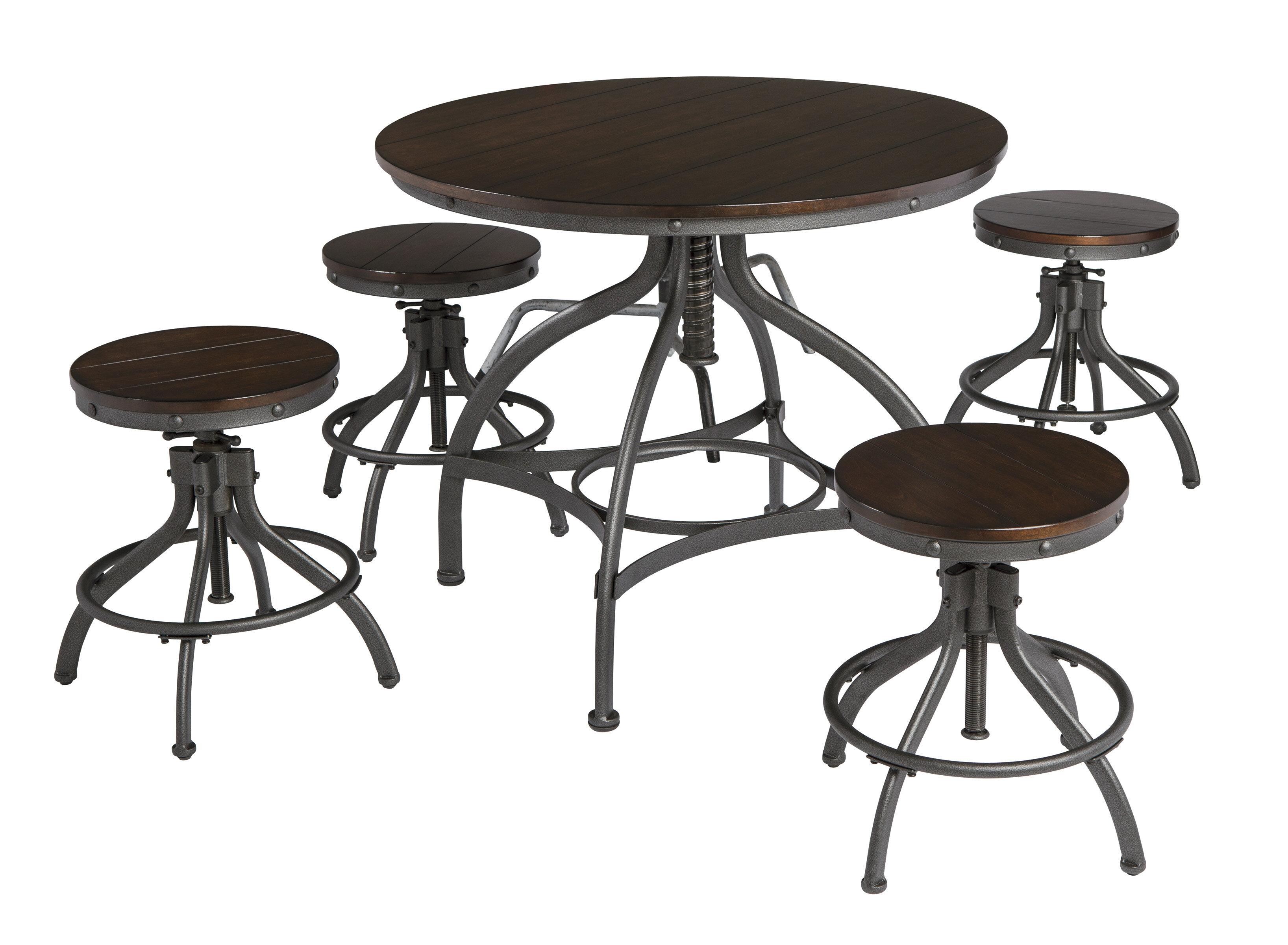 Trent Austin Design Yvette 5 Piece Counter Height Dining Set u0026 Reviews | Wayfair  sc 1 st  Wayfair & Trent Austin Design Yvette 5 Piece Counter Height Dining Set ...