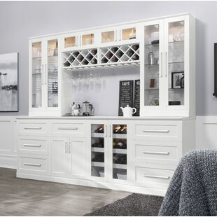 NewAge Products Home Bar Set with Wine Storage
