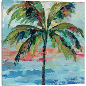 'California Palm I' Watercolor Painting Print