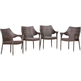Bellamy Stacking Patio Dining Chair (Set of 4)