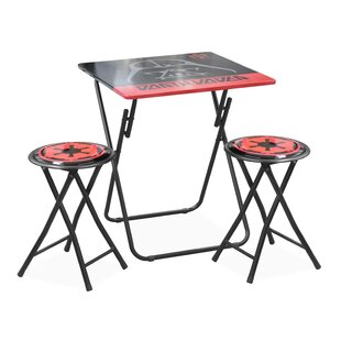 Kids 3 Piece Folding Table and Stool Set by Idea Nuova