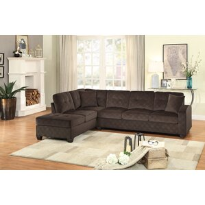 Tchantches Reversible Sectional  sc 1 st  Wayfair : brown sectional sofa with chaise - Sectionals, Sofas & Couches