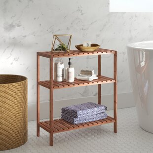 Review Woodbranch 3 Tier Bamboo 60cm H X 59cm W Bathroom Shelf