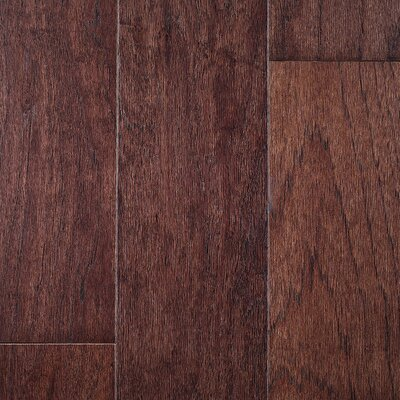 "Riga 5"" Engineered Hickory Hardwood Flooring Branton Flooring Collection Finish: Hickory Espresso"