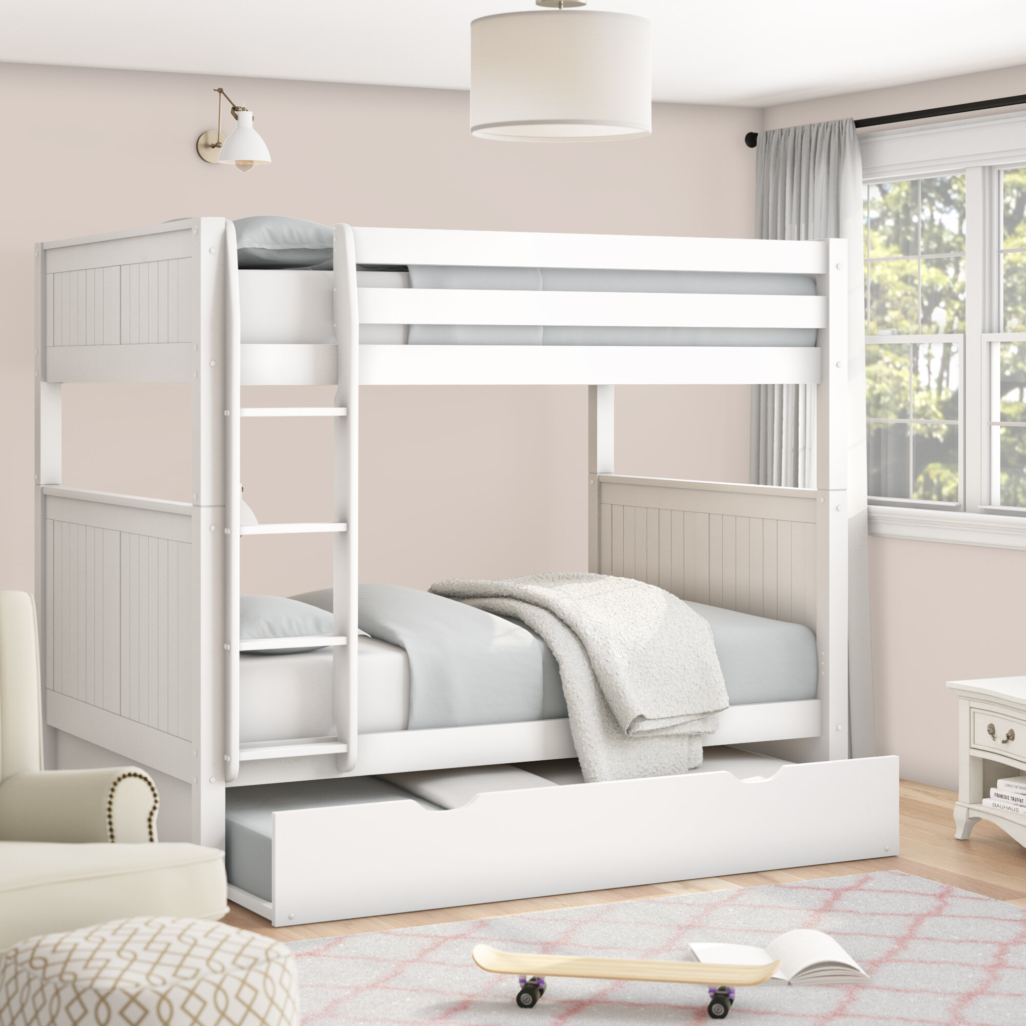 Amani Full Over Full Bunk Bed With Trundle Cheaper Than Retail Price Buy Clothing Accessories And Lifestyle Products For Women Men