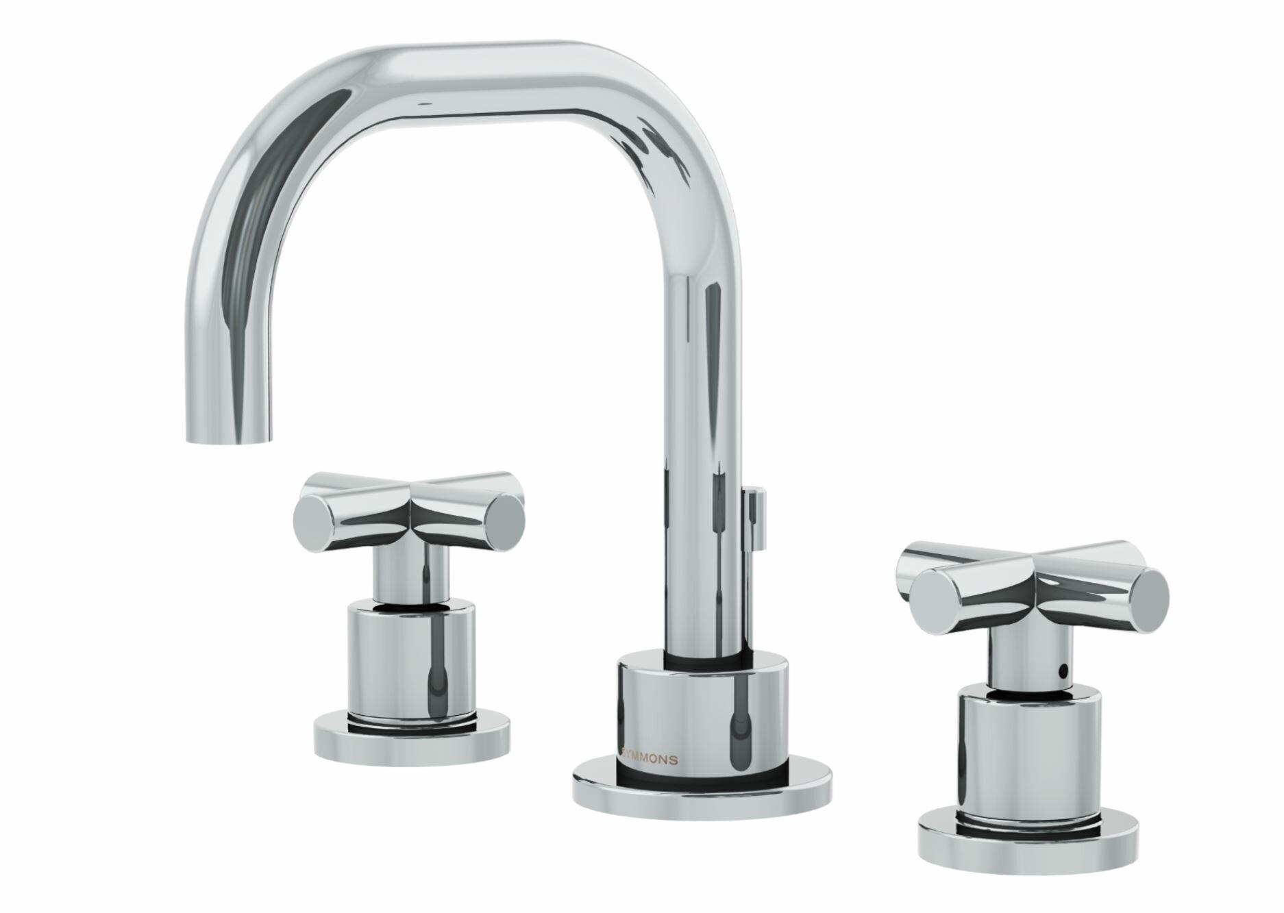 Symmons Dia Widespread Standard Bathroom Faucet Double Cross Handle ...