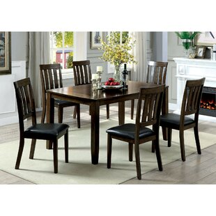 Devon Wooden 7 Piece Counter Height Dining Table Set
