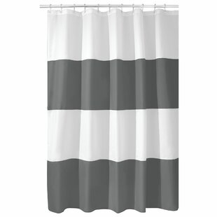 Mildew-Free Water-Repellent Zeno Single Shower Curtain