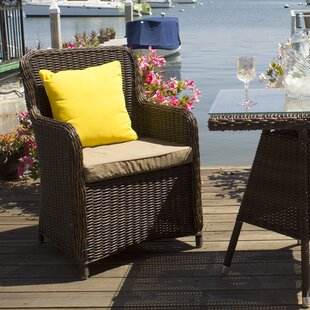 Heldt Patio Dining Chair with Cushion (Set of 2)