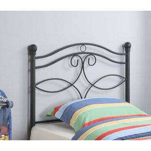 Sharkey Twin Wrought Iron Headboard by Harriet Bee
