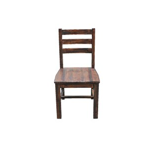Fiskeville Acacia Solid Wood Dining Chair..