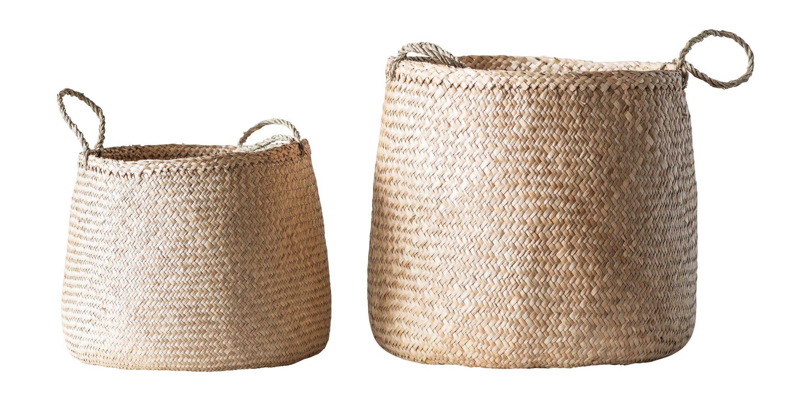 Allmodern 2 Piece Seagrass Basket Set Reviews Wayfair