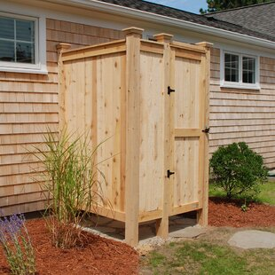Cedar Wall Mount Outdoor Shower By CapeCodShowerKits