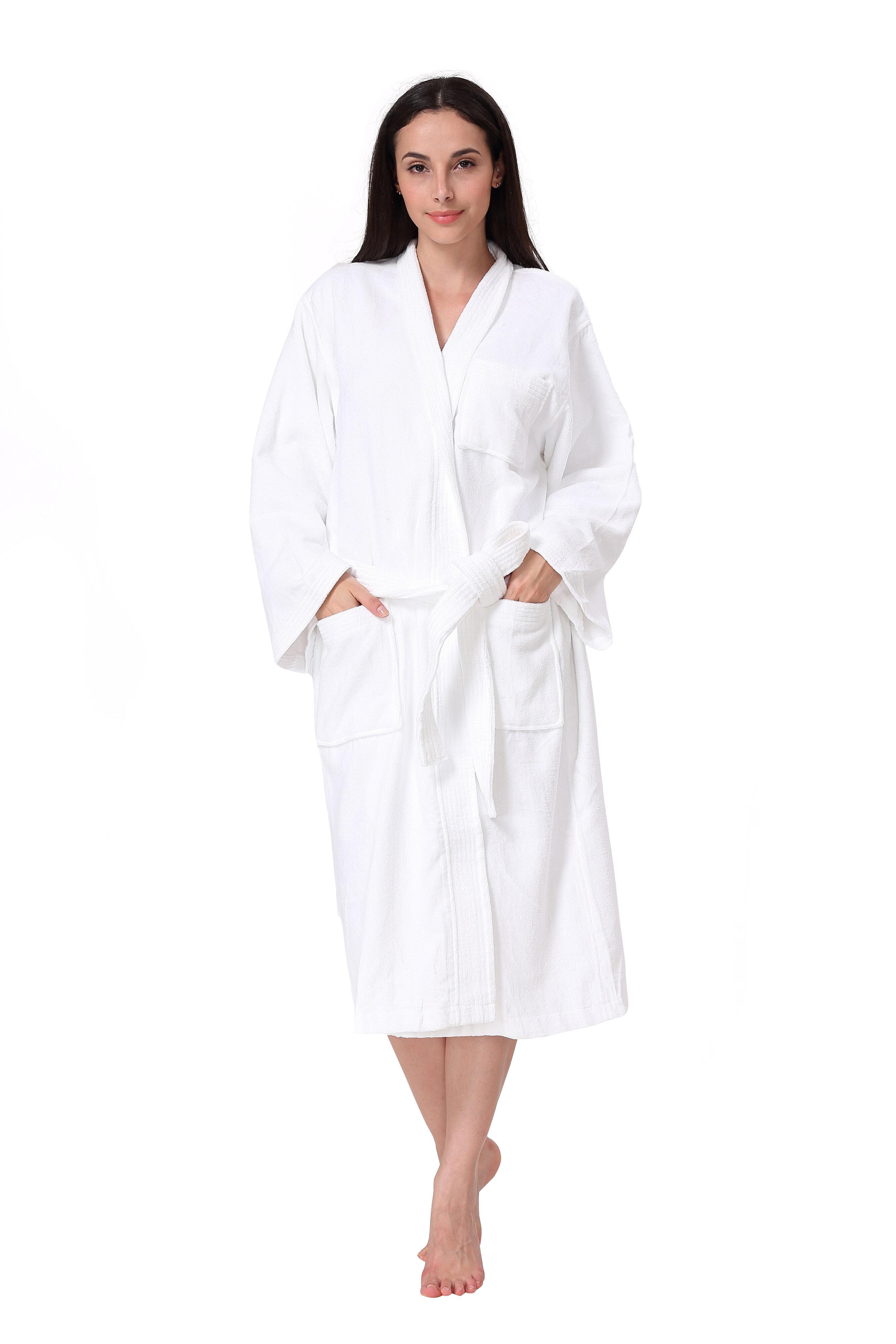 Charlton Home Othello Women S And Men S Spa Kimono 100 Cotton Terry Cloth Mid Calf Bathrobe Reviews Wayfair