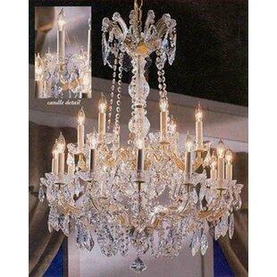Astoria Grand Alvarado 18-Light Gold Candle Style Chandelier