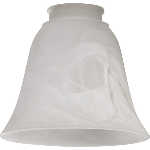 Faux alabaster 5 5glass bell pendant shade