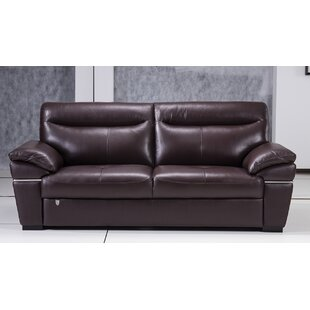 Affordable Victor Harbor Leather Sofa by Latitude Run Reviews (2019) & Buyer's Guide