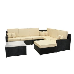 Northlight Seasonal 8 Piece Sectional Set with Cushions