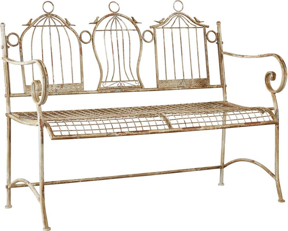 one allium way 2 sitzer gartenbank 3 birdcages aus metall bewertungen. Black Bedroom Furniture Sets. Home Design Ideas