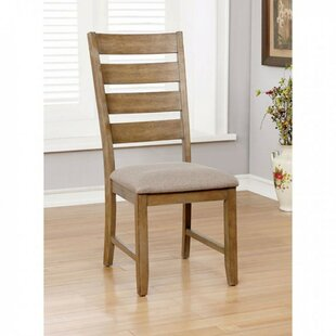 Weidman Wooden Side Upholstered Dining Chair (Set of 2) Millwood Pines