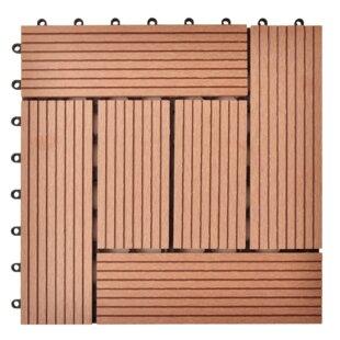 30cm X 30cm Floor Tile Set Made Of Wood-plastic Composite Material (Set Of 11) by DCor Design