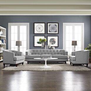 Thomaston 3 Piece Living Room Set by Ivy Bronx