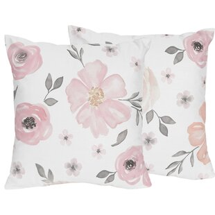 Watercolor Floral Throw Pillow (Set of 2)