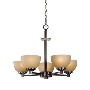 Ajo 5-Light Shaded Chandelier by Woodbridge Lighting