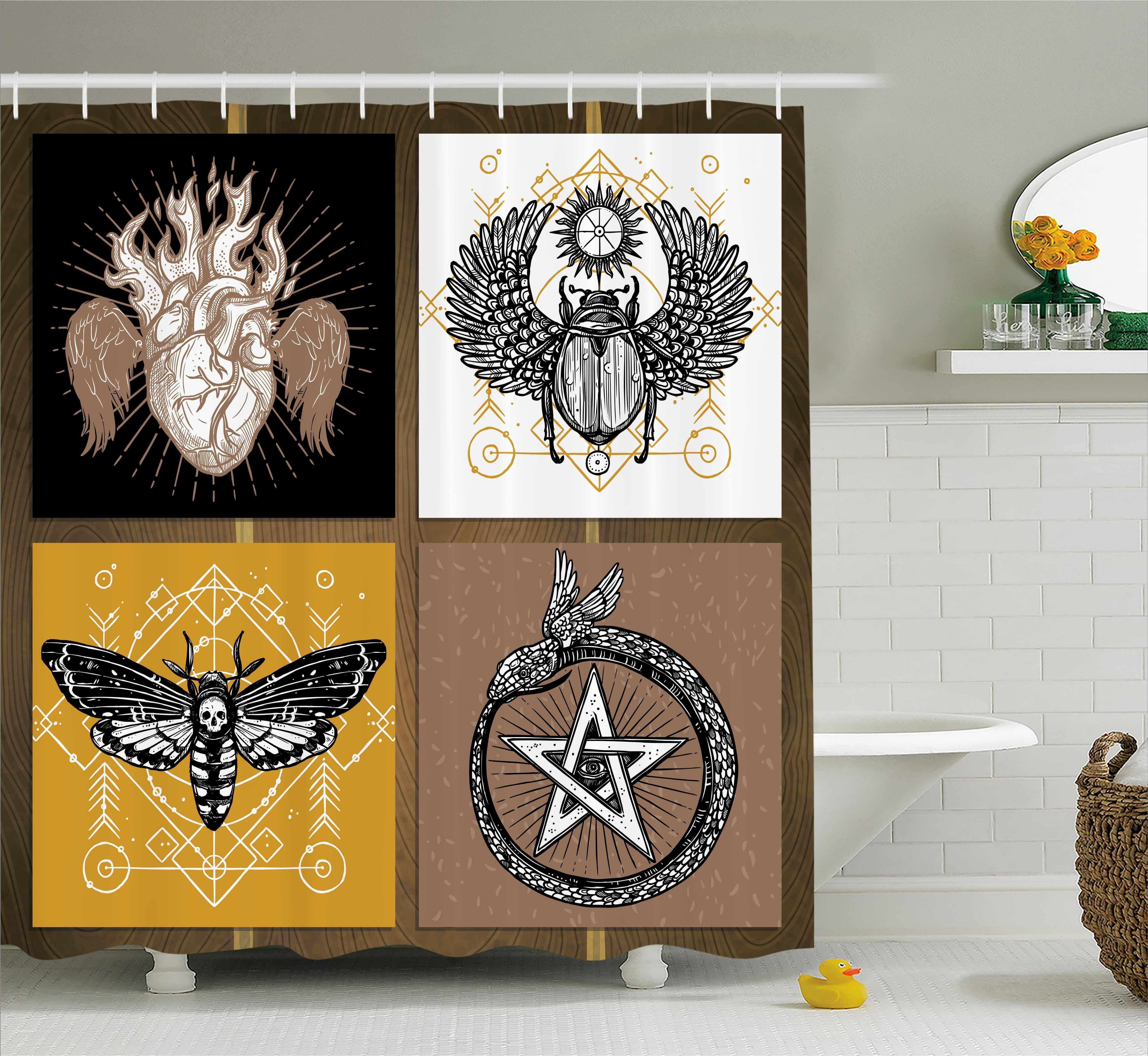 East Urban Home Bohemian Authentic Occult Art Shower Curtain