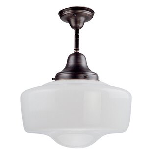 DVI Schoolhouse 1-Light Semi Flush Mount