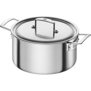 Aurora 5.5-Qt. Stainless Steel rOUND Dutch Oven