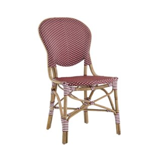 Isabell Rattan Bistro Patio Dining Chair
