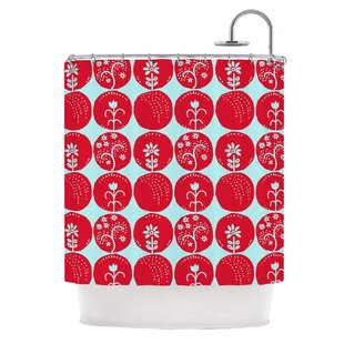 Dotty Papercut Single Shower Curtain
