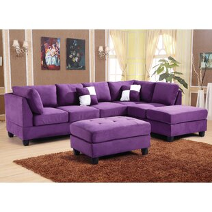 Purple Reversible Sectionals You Ll Love Wayfair