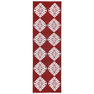 Jacquard Hand-Woven Red Area Rug