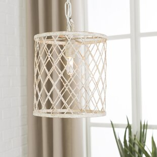 Highland Dunes Raven Transitional 1-Light Drum Pendant