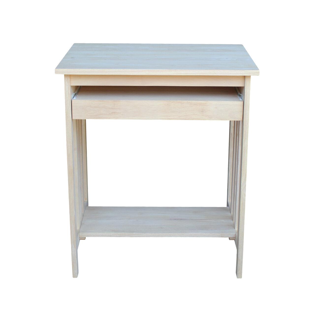International Concepts Unfinished Wood Mission Computer Desk ...