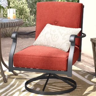 Wydra Swivel Patio Dining Chair with Cushions (Set of 2)