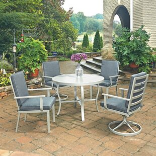 Dinan 5 Piece Dining Set with Cushion