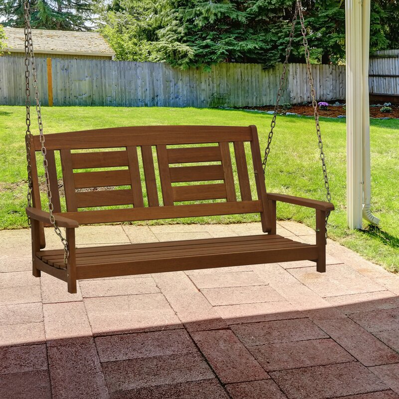 Arianna Solid Wood Hanging Porch Swing