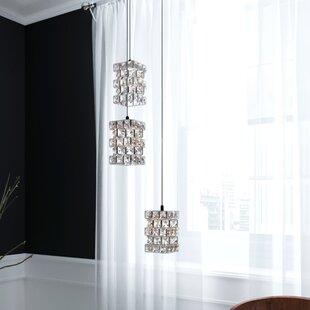 Cross 3-Light LED Crystal Pendant by Mercer41