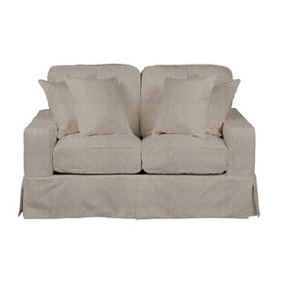 Columbus Slipcovered Loveseat by August Grove Coupon
