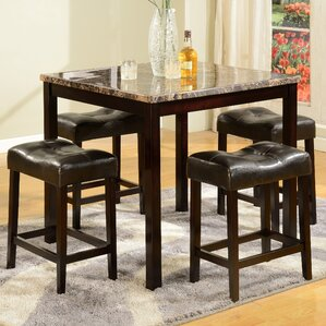 Traynor 5 Piece Counter Height Pub Table Set by Andover Mills