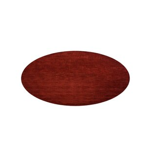 Delano Solid Hand-Woven Wool Red Area Rug by Latitude Run